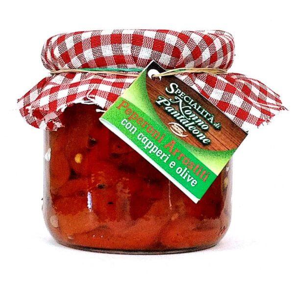 Peperoni Arrostiti Con Capperi E Olive 390 G