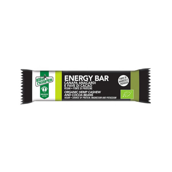 Energy Bar Canapa Anacardi Fave Di Cacao