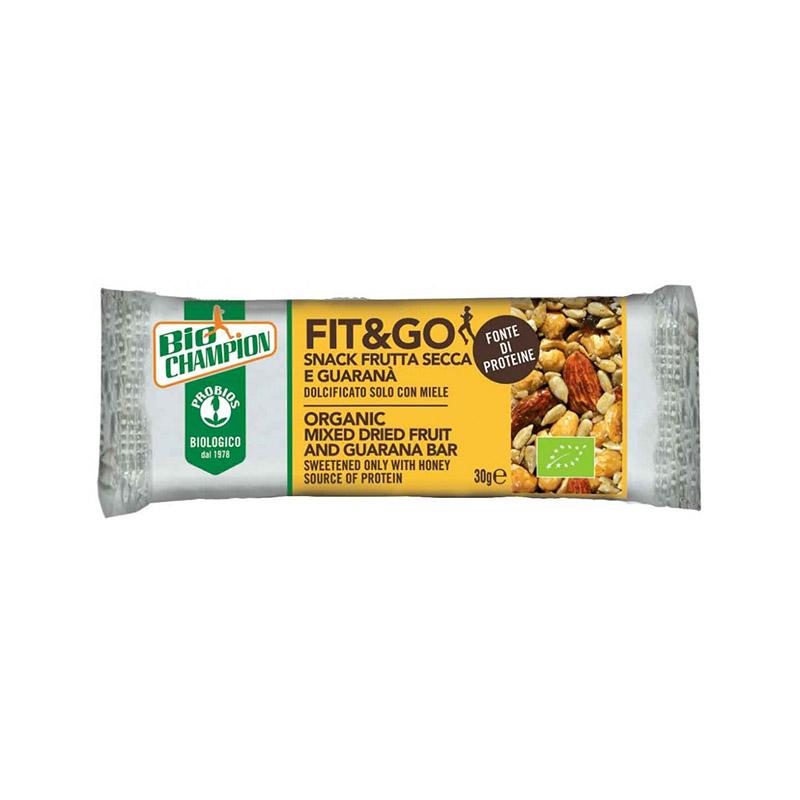 Probios Fit&Go Snack Con Frutta Secca E Guaranà