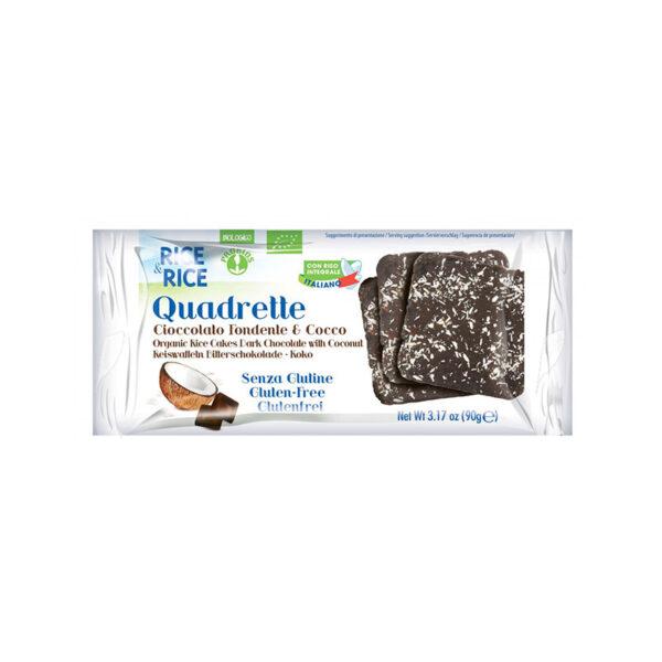 Quadrette Bio Cioccolato Fondente E Cacao
