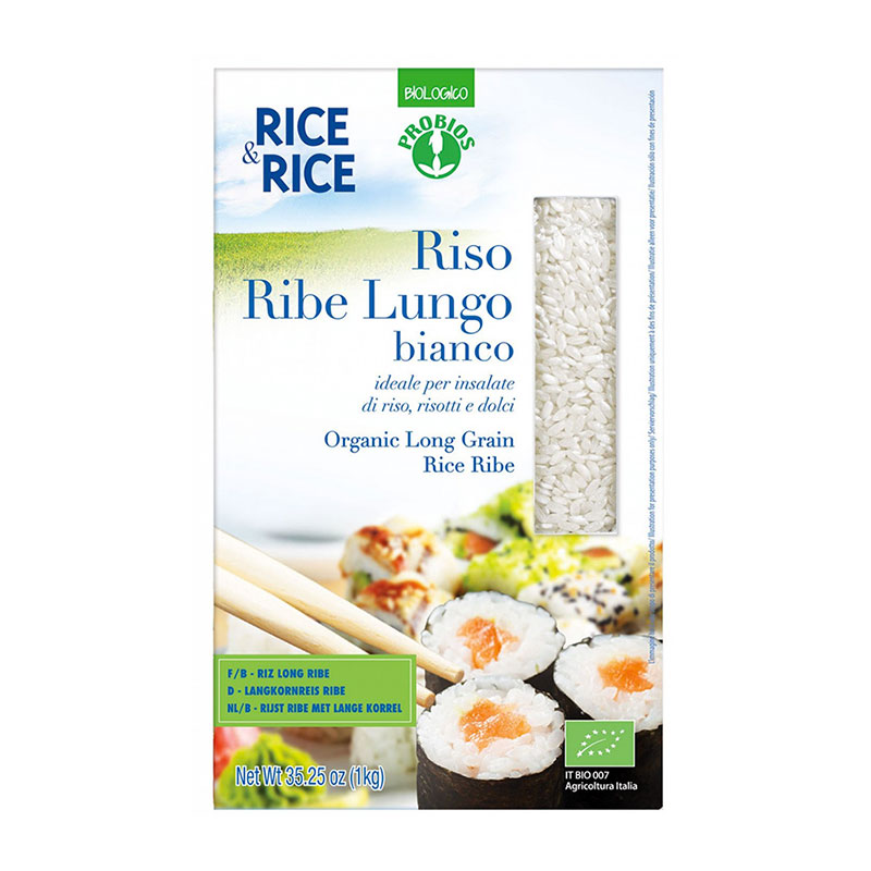 Probios riso ribe bianco chicchi lunghi