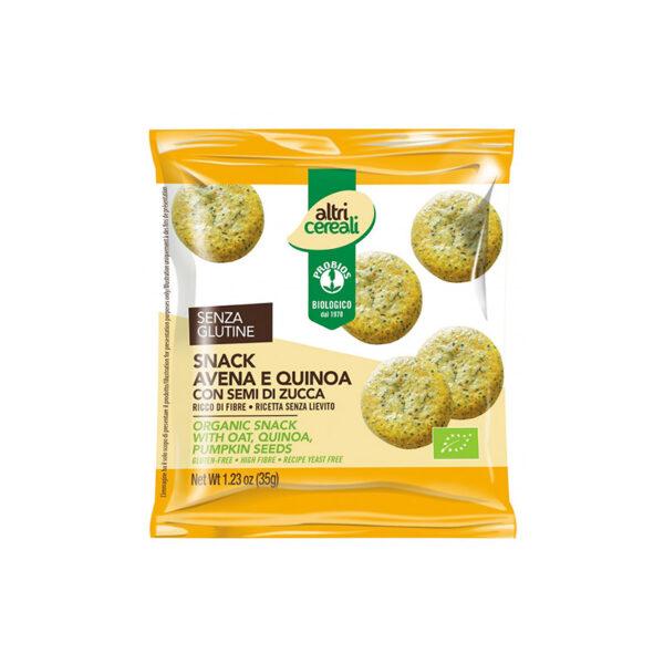 Snack Bio Avena E Quinoa Con Semi Di Zucca